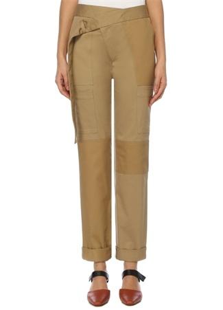 Kamel Yüksek Bel Boru Paça Kargo Pantolon