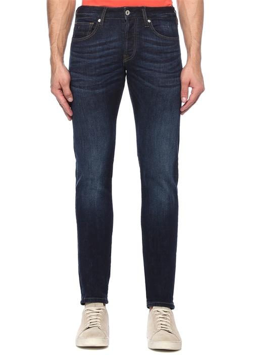 Regular Slim Fit Lacivert Normal Bel Jean Pantolon