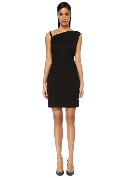Dsquared2 Siyah Asimetrik Drapeli Mini Kokteyl Elbise – 4375.0 TL