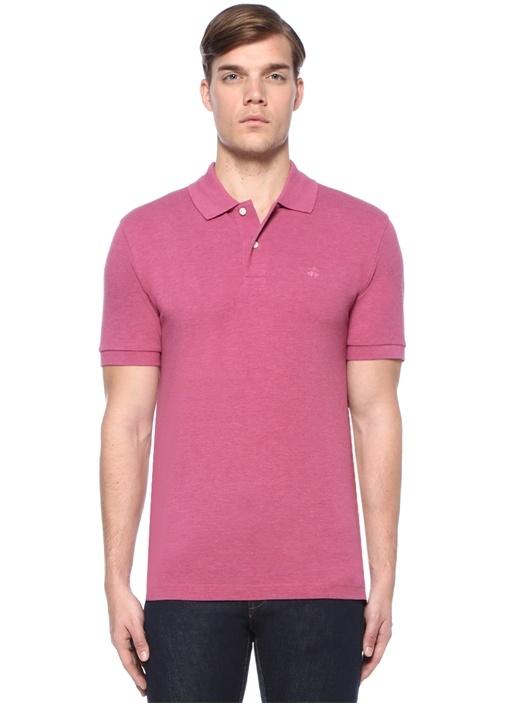 Slim Fit Mor Logolu Polo Yaka T-shirt