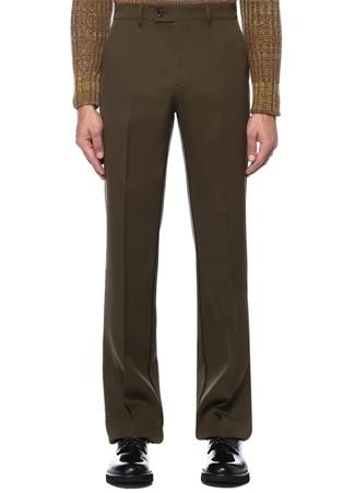 Haki Normal Bel Yün Pantolon