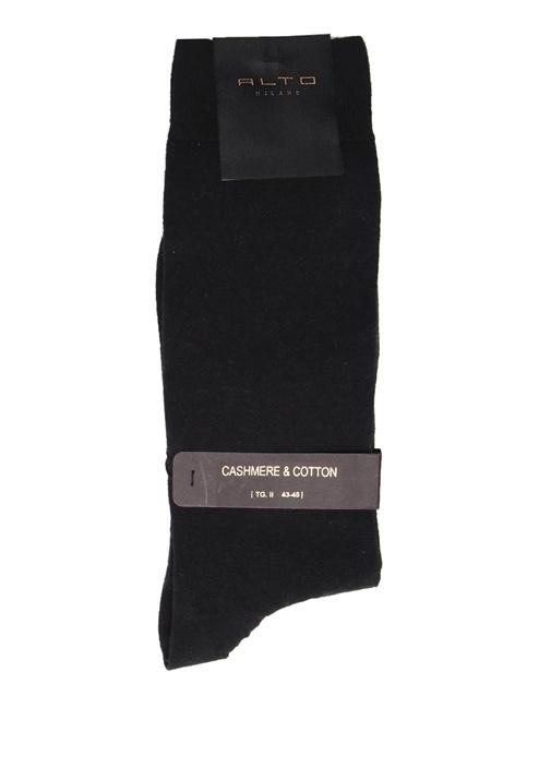 Siyah Logo Jakarlı Çorap