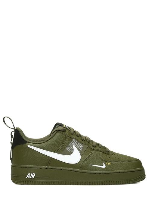 Air Force 1 07 Utility Haki Erkek Deri Sneaker