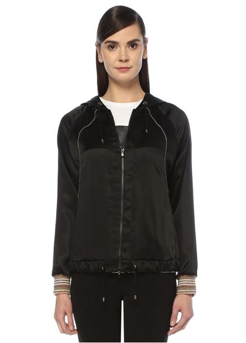 Brunello Cucınellı Siyah Kapüşonlu Fermuarlı Saten Sweatshirt – 12950.0 TL