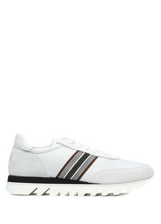 Beyaz Şerit Detaylı Logolu Kadın Sneaker