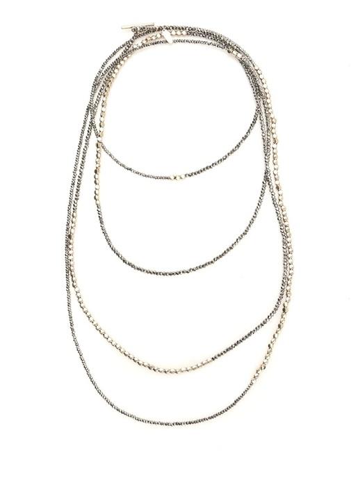 Silver Zincir Formlu Kadın Kolye