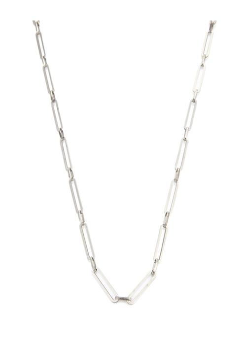 Silver Zincir Formlu Erkek Gümüş Kolye
