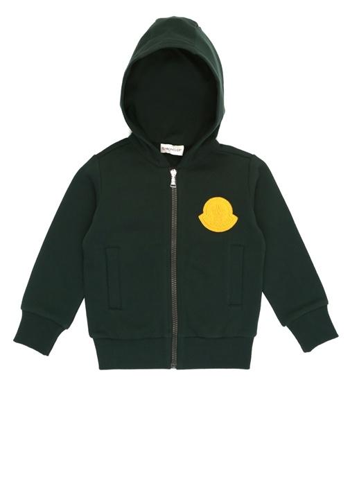 Yeşil Logo Patchli Erkek Çocuk Sweatshirt