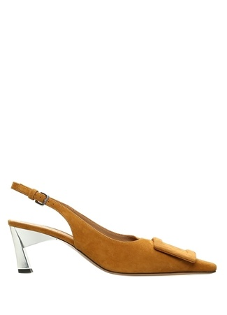 Marni Kadın Hardal opuk Detaylı Süet Ayakkabı Sarı 36 R Ürün Resmi