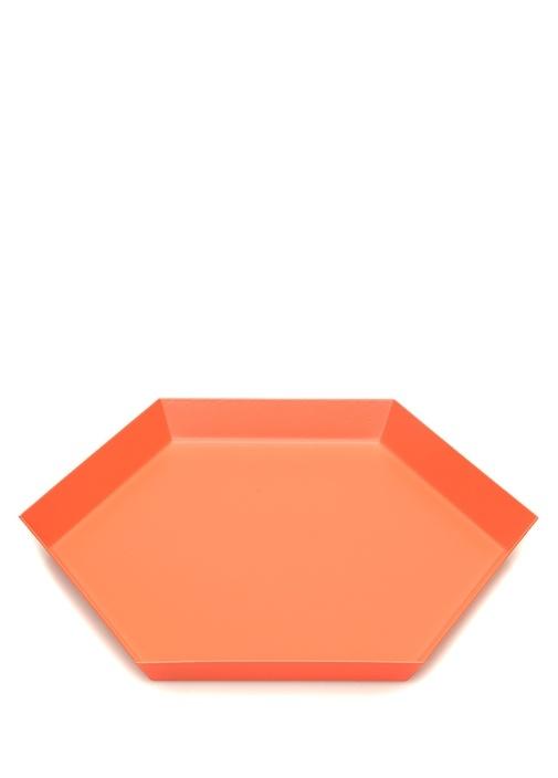 Kaleido Pembe Geometrik Formlu Dekoratif Tabak