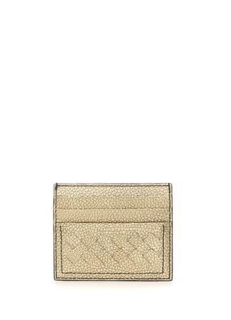 Bottega Veneta Kadın Gold Örgü Doku Detaylı Deri Kartlık Altın Rengi Ürün Resmi