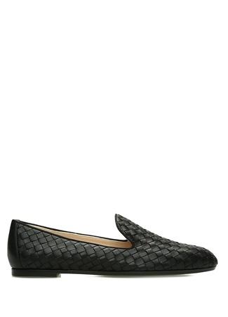 Bottega Veneta Kadın Siyah Örgü Dokulu Deri Loafer 40.5 R Ürün Resmi