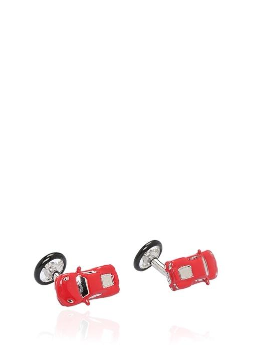 Kırmızı Araba Formlu Kol Düğmesi