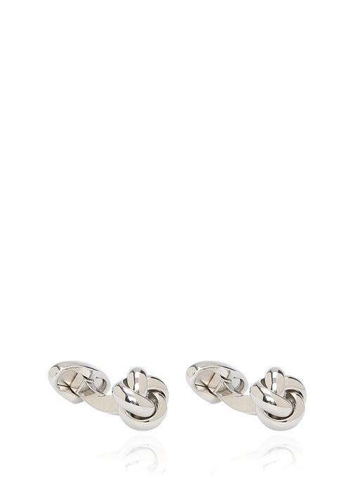Silver Düğüm Formlu Kol Düğmesi
