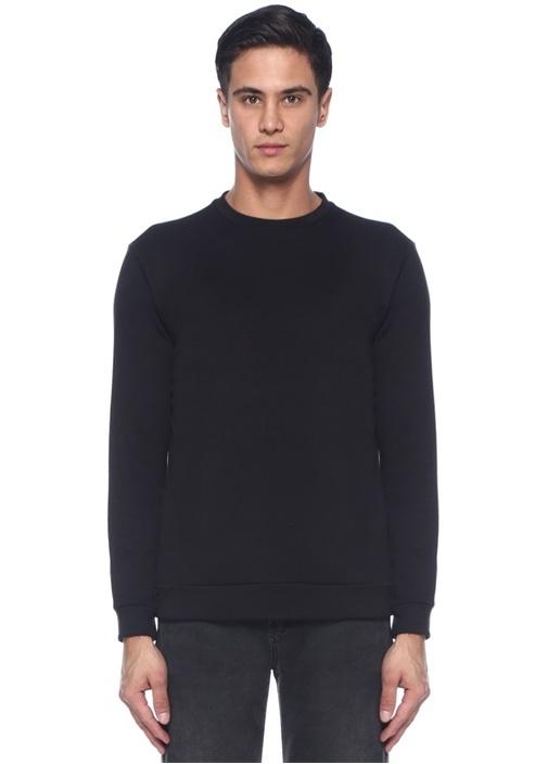 Siyah Fermuar Detaylı Sweatshirt