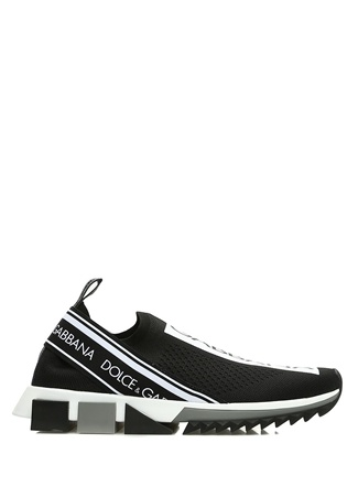 Dolce&Gabbana Kadın Sorrento Siyah Topuk Detaylı Sneaker 37 EU