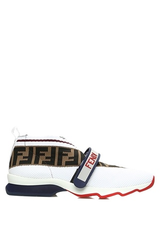 Fendi Kadın Mania Rockoko Beyaz Çorap Sneaker 36 EU