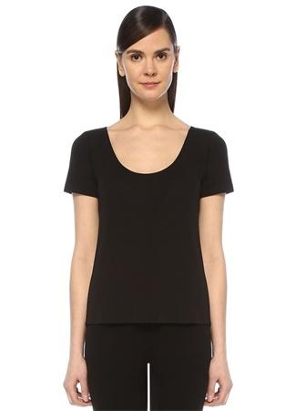 Beymen Club Kadın Siyah U Yaka Dikişsiz T-shirt XL EU