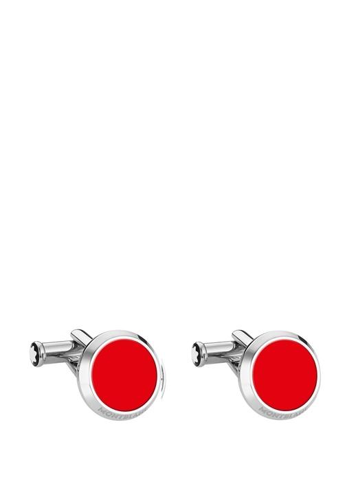 Silver Kırmızı Erkek Kol Düğmesi