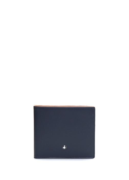 Lacivert Logolu Erkek Deri Cüzdan