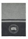 Lacivert Logo Jakarlı Oversize Kadın Yün Atkı
