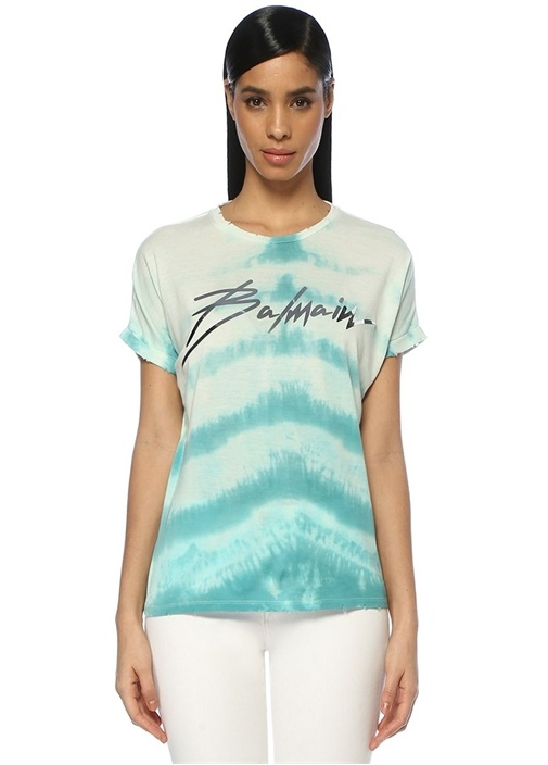 Mavi Silver Logolu Batik Desenli T-shirt