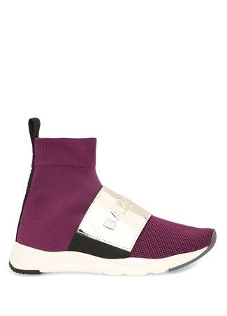 Balmain Kadın Cameron Mor Silver Bantlı Çorap Sneaker 35 R Ürün Resmi