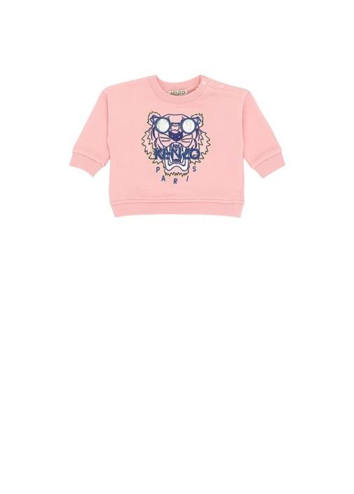 Wax Tiger Pembe Nakışlı Kız Bebek Sweatshirt