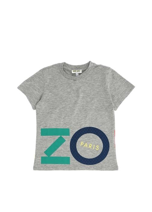 Wax Gri Logo Baskılı Erkek Çocuk T-shirt