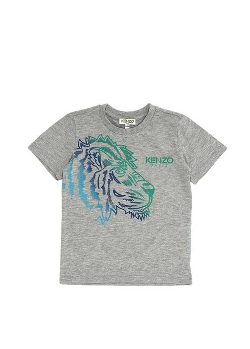 Hawaii Gri Baskılı Erkek Çocuk T-shirt