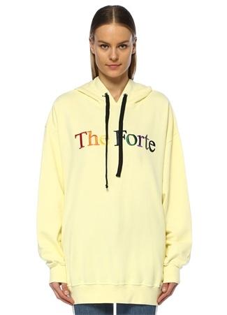 Forte Couture Kadın he Sarı Kapüşonlu Oversize Sweatshirt L Ürün Resmi