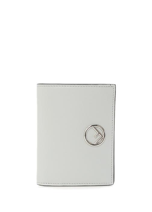 Gri Silver Logolu Kadın Deri Cüzdan