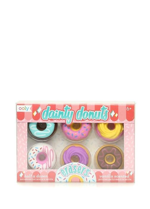 Dainty Donuts 6lı Vanilya Kokulu Silgi Seti