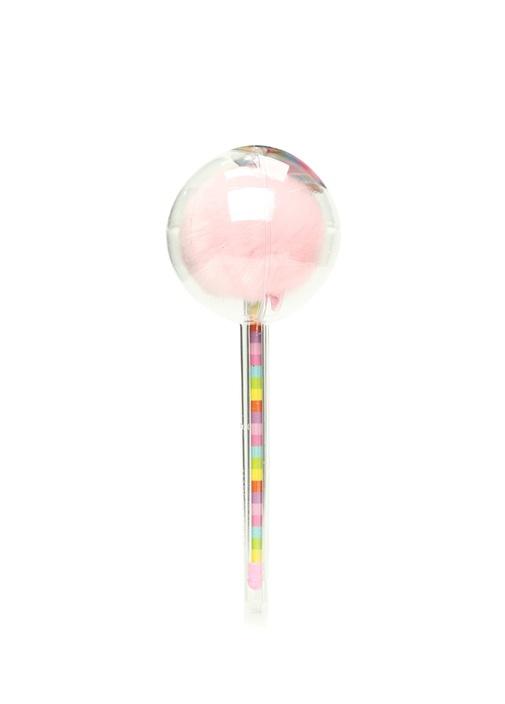 Lollypop Pembe Gökkuşağı Ponponlu Kalem