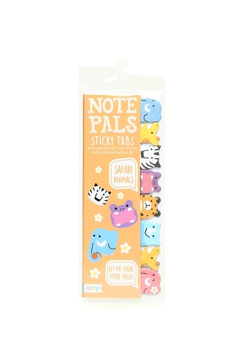 Safari Animals Note Pals 8li Sticker Seti