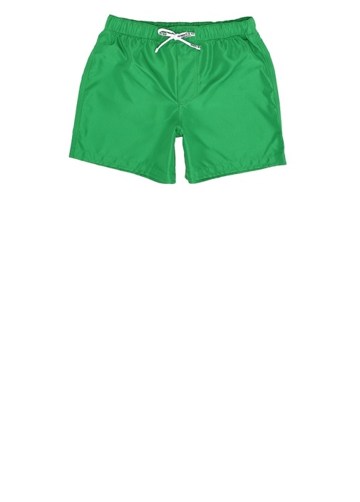 Yeşil Logo Baskılı Erkek Çocuk Mayo