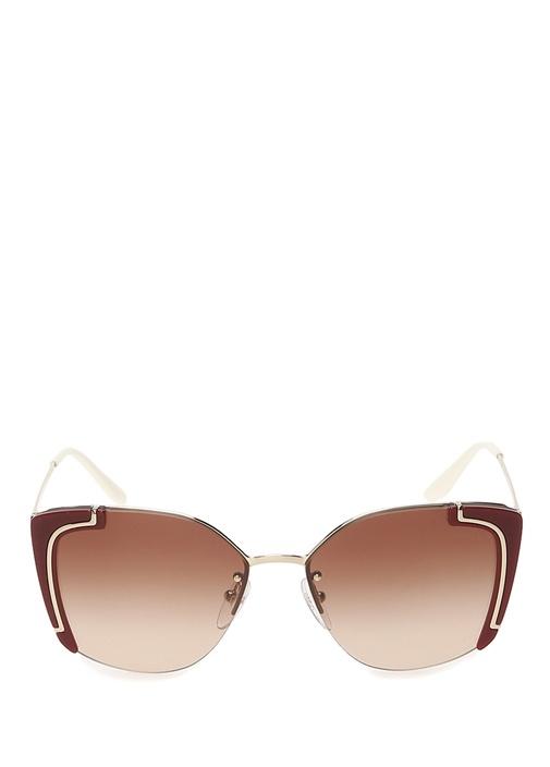 Kahverengi Cat Eye Formlu Kadın Güneş Gözlüğü