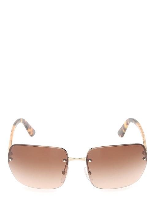 Light Gold Kare Formlu Kadın Güneş Gözlüğü