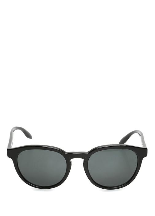 Siyah Yuvarlak Formlu Erkek Güneş Gözlüğü