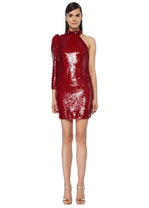 BeatrixKırmızı Payetli Mini Kokteyl Elbise