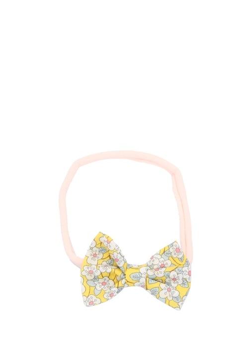 Liberty Mini Pembe Çiçek Desenli Kız Çocuk Bandana