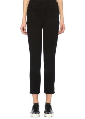 J Brand Kadın Ruby Siyah Yüksek Bel Crop Cigarette Jean Pantolon 24 US female
