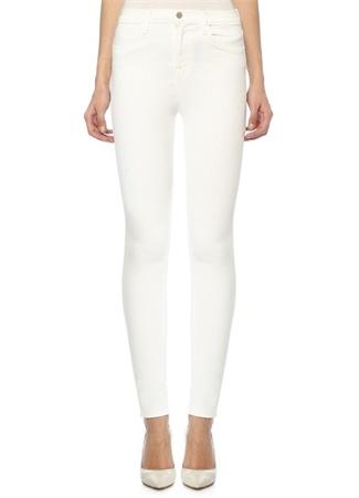 J Brand Kadın Beyaz Yüksek Bel Skinny Leg Jean Pantolon 23 US