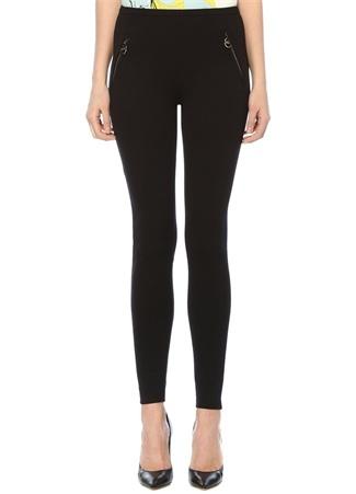 Siyah Normal Bel Dar Paça Streç Pantolon