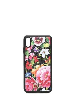 Kadın Çiçek Baskılı iPhone XS Max Deri Telefon Kılıfı EU