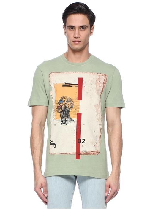 Yeşil Baskılı T-shirt