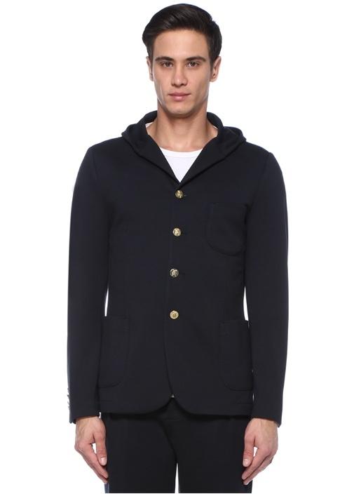 Drop 8 Siyah Kapüşonlu Ceket
