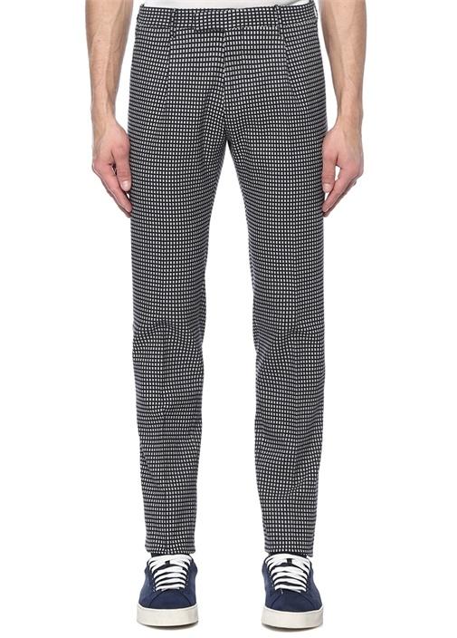 Drop 7 Lacivert Mikro Desen Jakarlı Pantolon