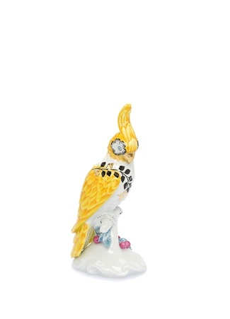Vista Alegre Atlantis Primavera Sarı Papağan Formlu Porselen Mumluk Ürün Resmi