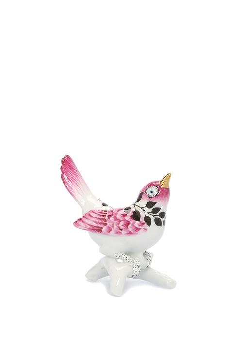 Primavere Pembe Papağan Formlu PorselenObje